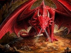7 dragon rojo